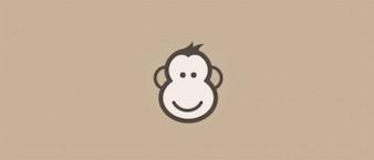 Visage heureux icône de singe de bande dessinée