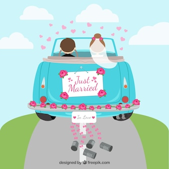 Voiture Just married