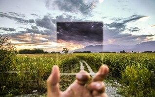 Vue de filtre Cokin du paysage