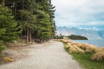 Vue du lac Nouvelle Zélande Queenstown