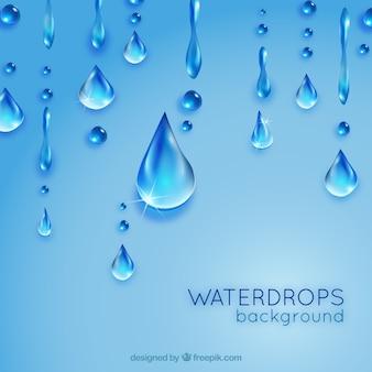 Gouttes d'eau fond