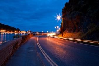 Waterford crépuscule scène de rue