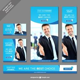 Web business banner set