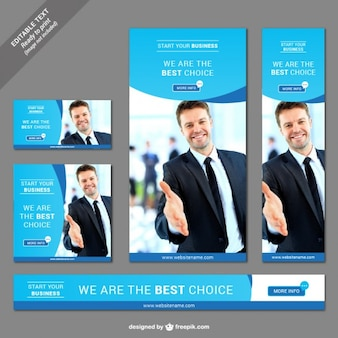 Web business banner set
