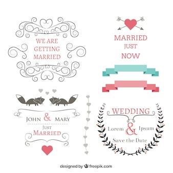 bannières de mariage définies