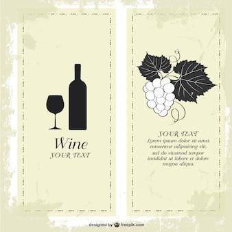 Carte des vins conception de modèle libre