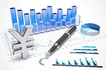 Yen stock trading concept