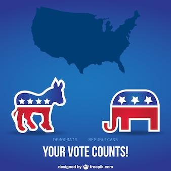 Votre vote compte vecteur