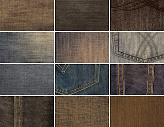 12 texturas de alta resolución Denim