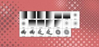 20 Alta Resolução Halftone Dot Brushes
