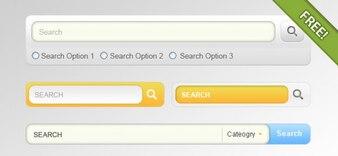4 diseños para el campo de búsqueda de entrada
