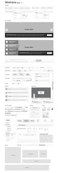 Alambre plantilla de interfaz de usuario vector kit