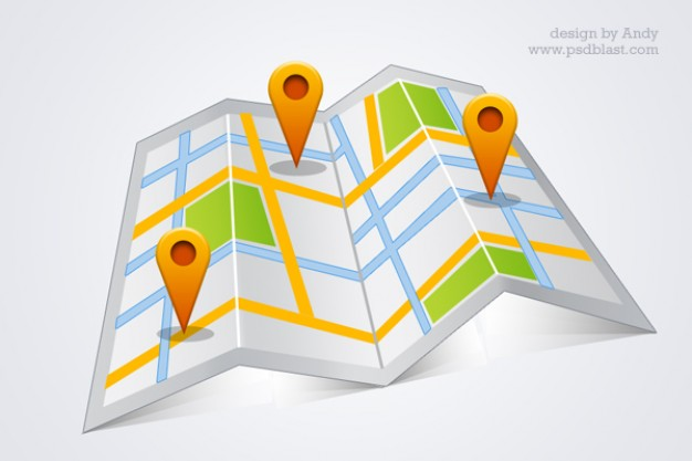 Alta resolución google map psd