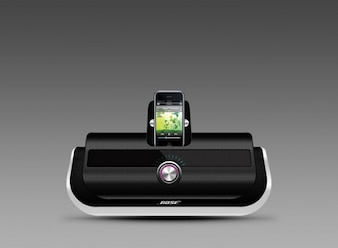 altavoces para iPod pie psd