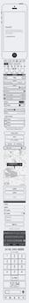 Aplicación para el iPhone wireframing vector kit