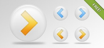 Arrow libre PSD Botones Paquete