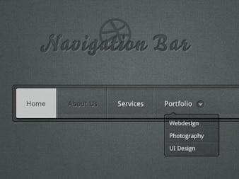 barra de navegación de regalo de promoción