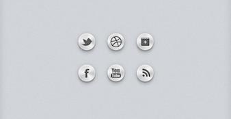 botones sociales iconos sociales sociales ui