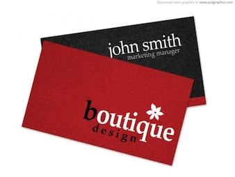 Boutique tarjeta de visita