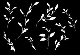 Branco folha formas fundo