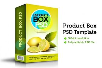 Caixa do produto psd modelo