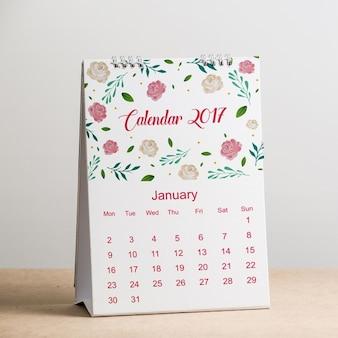 Calendário mock up projeto