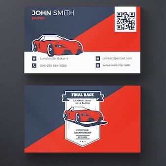 Cartão de corridas de carros