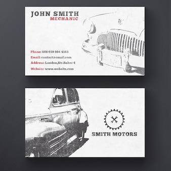 Cartão de visita do serviço do carro