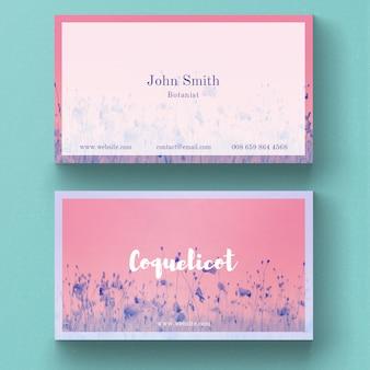 Cartão de visita floral útil