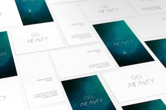 Cartões de visita mock up projeto
