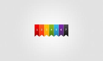 Cintas de colores