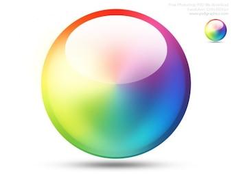 Color PSD icono de la rueda