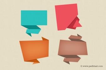 Colorido discurso burbuja iconos psd