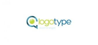 Comunicação da empresa logotipo modelo vetor
