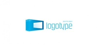 Comunicação moderna vetor logotipo
