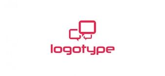 Comunicación libre plantilla de logotipo