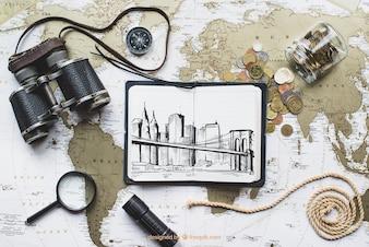 Conceito de viagens mundiais
