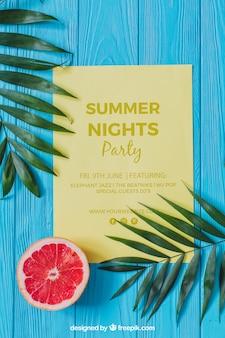 Concepto de fiesta de verano