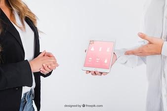 Concepto de negocios y tablet
