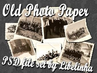 Conjunto imagem de papel velho