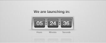 COUNTDOWN tirón PSD Reloj