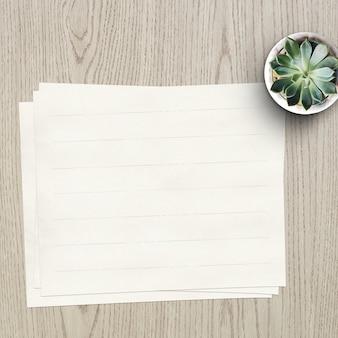De papel vazio mock up