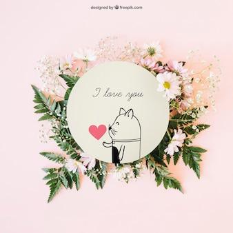 Decoração de casamento com cartão circular