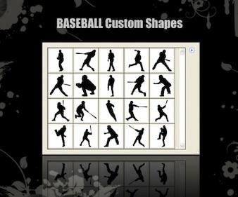 Deporte formas béisbol personalizables