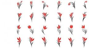 Desenhos livres logotipo para lojas de flores e salões de beleza