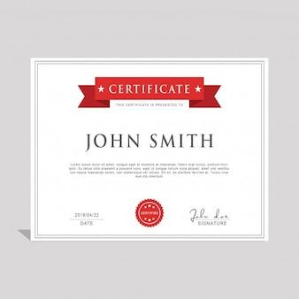 Diploma con una cinta roja