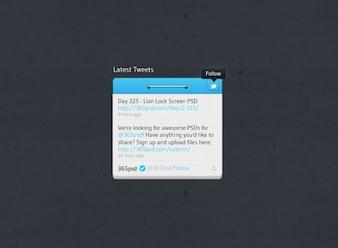 Diseño de botones siga últimos tweets Twitter Twitter botón de Twitter Widget widget de diseño de la interfaz de usuario