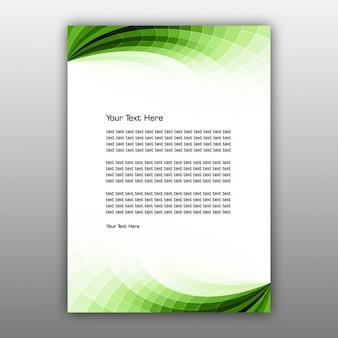 Diseño de folleto abstracto verde
