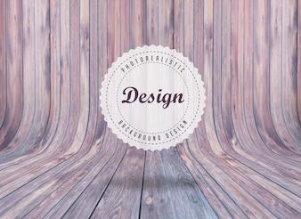 Diseño de fondo de tablas de madera realista