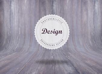 Diseño de fondo de textura de madera realista